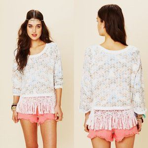 Free People Follow the Fringe Pullover S